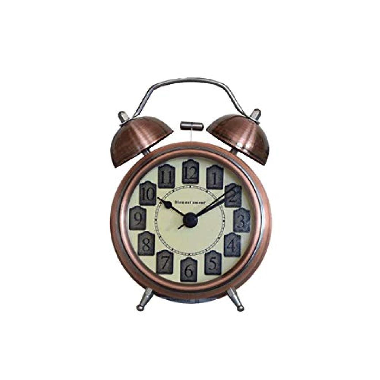 複雑恋人成果Kaiyitong001 目覚まし時計、メタルベル小型目覚まし時計、学生ミュートパーソナリティアラームテーブル、寝室のベッドサイドクロック(11.5CM×16.5CM×6CM) (Color : 3)