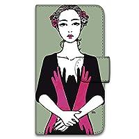 majocco AQUOS SERIE SHV34 ケース 手帳型 プリント手帳 手を触れるA (mj-001) カード収納 スタンド機能 WN-LC765398_L