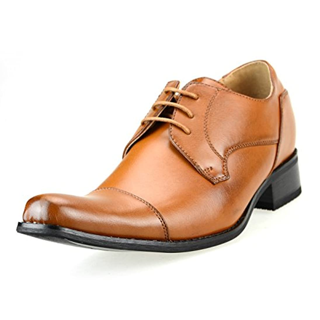 追加通知放棄[エムエムワン] MM/ONE ビジネス シューズ メンズ シークレット シューズ インヒール 身長7.0cmUP 靴 背が高くなる ロングノーズ ストレートチップ 外羽根 【 H2701SZ 】