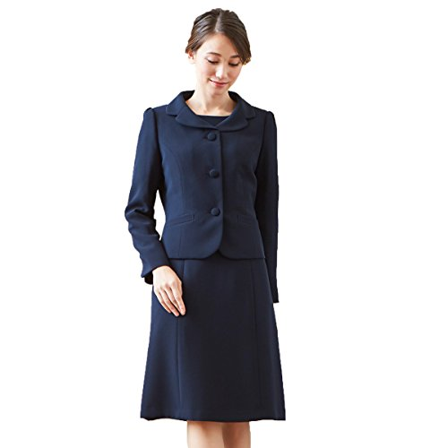 BLACK GALLERY お受験スーツ アンサンブル 濃紺 ジャケット ワンピース レディース 夏 洗える ネイビー 13号