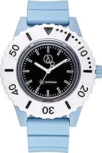 [キューアンドキュー スマイルソーラー]Q&Q SmileSolar 腕時計 ソーラー アナログ 20気圧防水 直径45mm スカイブルー RP30-005 メンズ