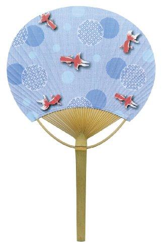 四国団扇 うちわ 絞り金魚 約23×37cm