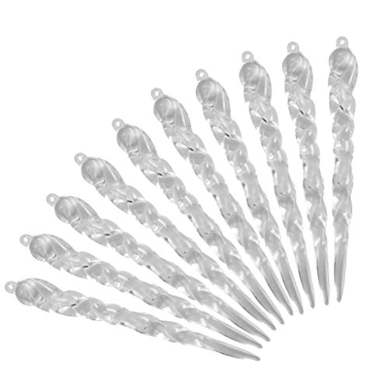 FLAMEER 10個 つらら クリア アクリル オーナメント クリスマスツリー 装飾 2タイプ選べ - 12.5*1.5*1cm