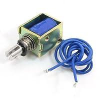 DealMuxオープンフレーム電磁リニアソレノイド、DC 12V 4N、10ミリメートルストローク