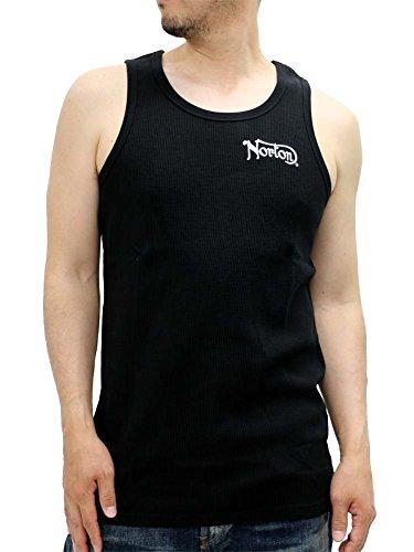 NORTON(ノートン) 大きいサイズ メンズ タンクトップ ノースリーブ ワッフル ブラック 3L