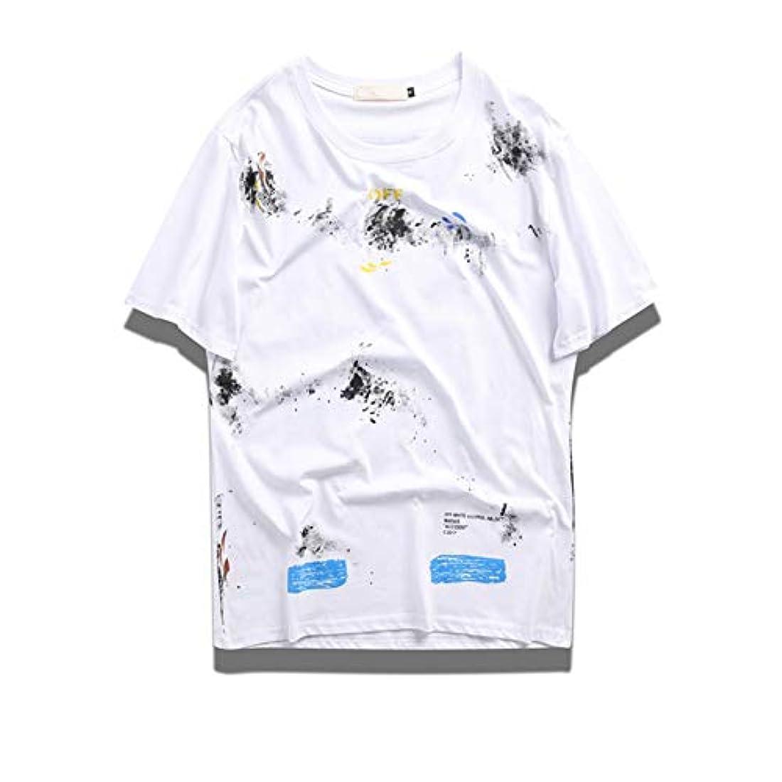 骨曇った繁栄メンズ半袖Tシャツ コットン アウトドア 2色揃い 男女兼用E