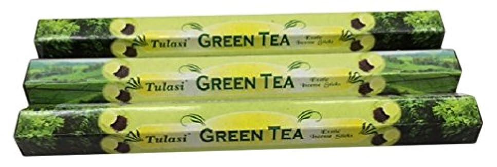 ソーダ水正当な掃除TULASI サラチ STICKS お香 60本入り GREEN TEE グリーンティー 640187-3