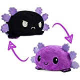 TeeTurtle   The Original Reversible Axolotl Plushie   Patented Design   Black and Purple   Show Your Mood Without Saying a Wo