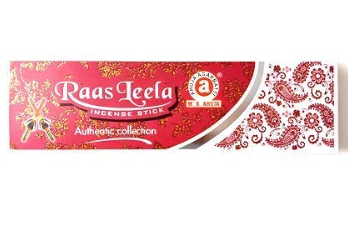 超越する夜明け仲良しAhuja Raas Leela Agarbatti Incense Stick - Pack of (12)