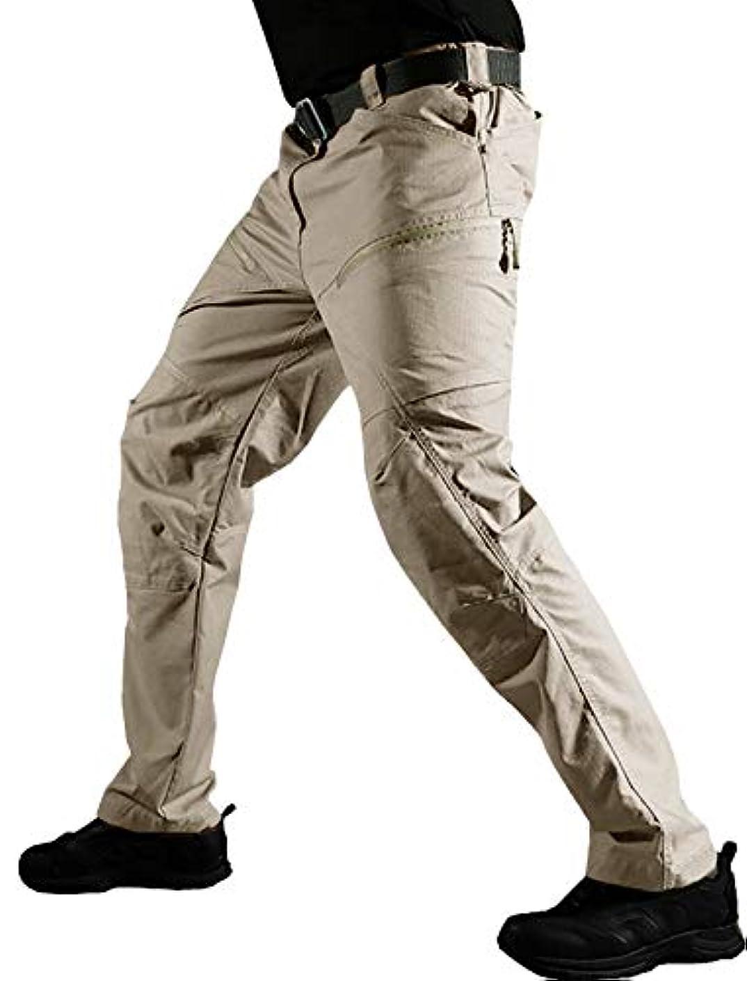 路地感染する根拠TACVASEN タクティカルパンツ 多機能 アウトドア 長ズボン メンズ コンバットパンツ ミリタリー カーゴパンツ 通気性 作業ボトムス 無地 6ポケット ストレッチ トレーニング/ハイキング/登山