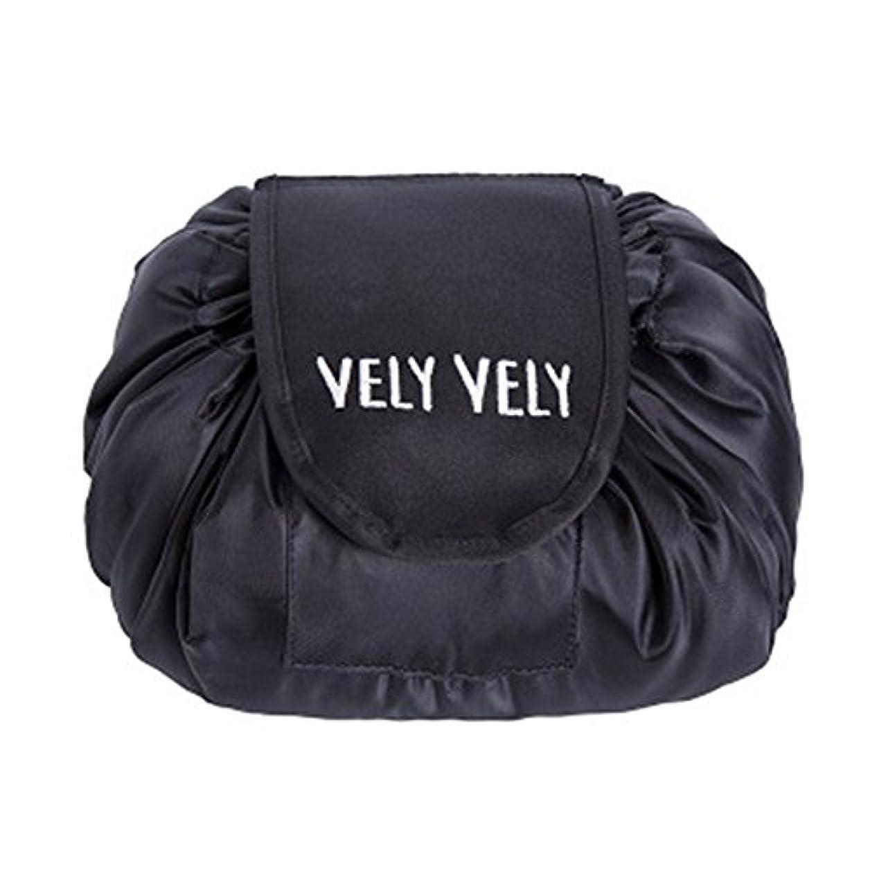 スペードジャンプする本気Littleliving 旅行メイクバッグ 旅行化粧バッグ メイク収納バッグ 化粧ポーチ 大容量 巾着 マジックふろしきポーチ