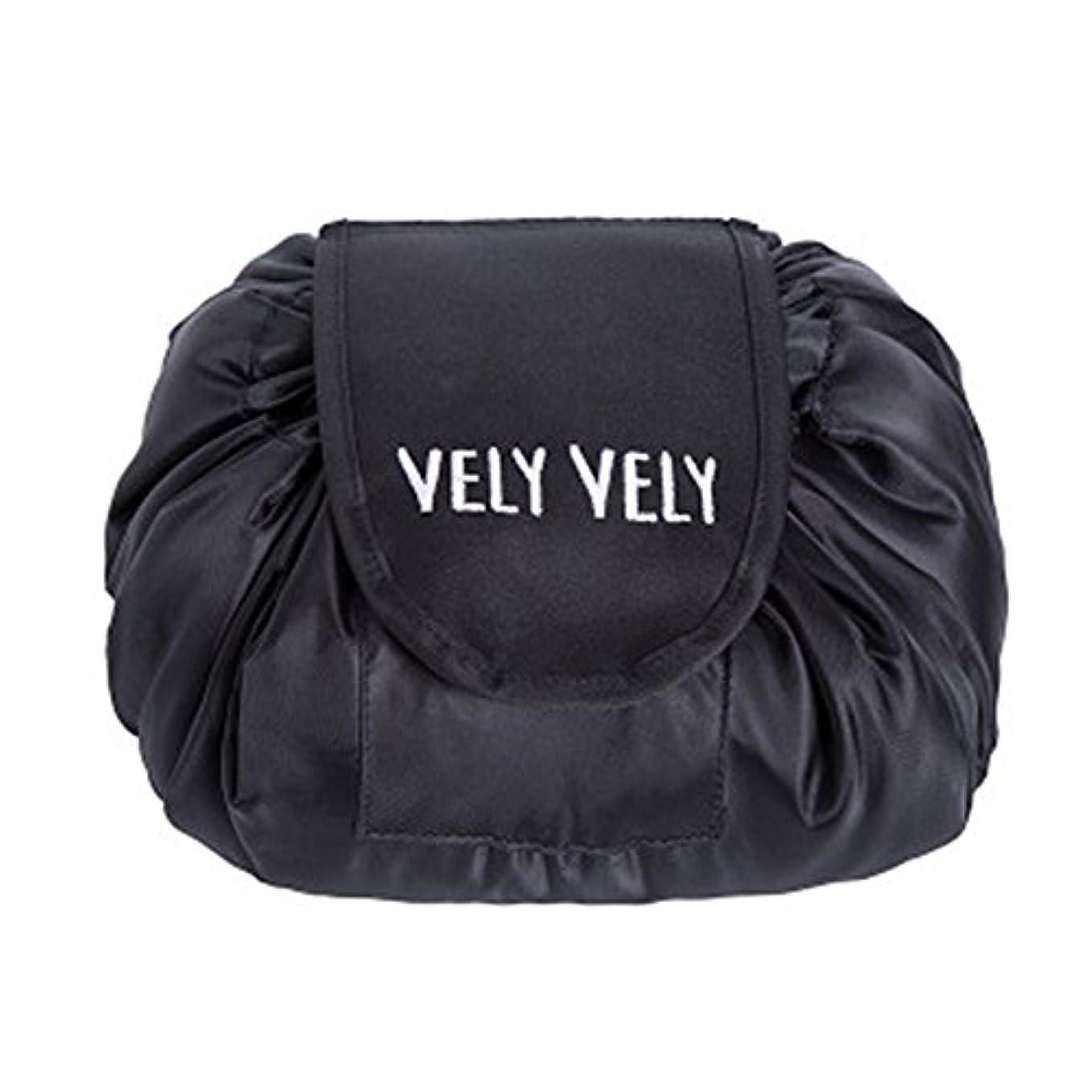 野生クスコキリンLittleliving 旅行メイクバッグ 旅行化粧バッグ メイク収納バッグ 化粧ポーチ 大容量 巾着 マジックふろしきポーチ