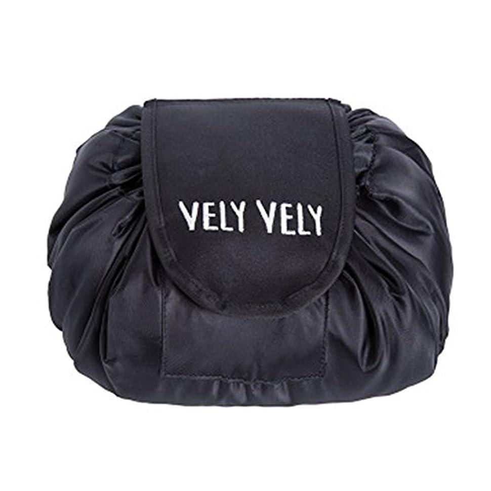 干渉する平方パトロールLittleliving 旅行メイクバッグ 旅行化粧バッグ メイク収納バッグ 化粧ポーチ 大容量 巾着 マジックふろしきポーチ