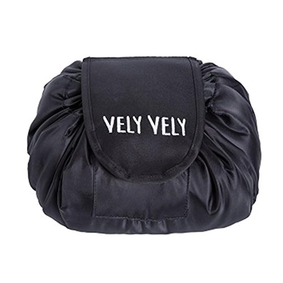 障害者ラリーフットボールLittleliving 旅行メイクバッグ 旅行化粧バッグ メイク収納バッグ 化粧ポーチ 大容量 巾着 マジックふろしきポーチ