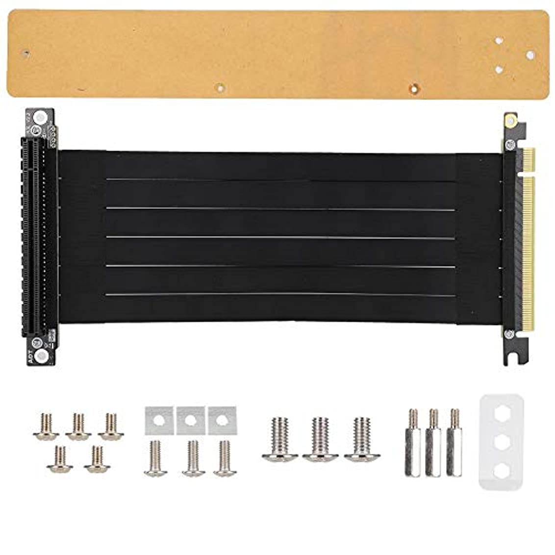 メールを書く急流欠陥Cosiki 9インチ PCI-E グラフィックスカード延長ケーブルセット PCI-E グラフィックスカードインターフェース付き