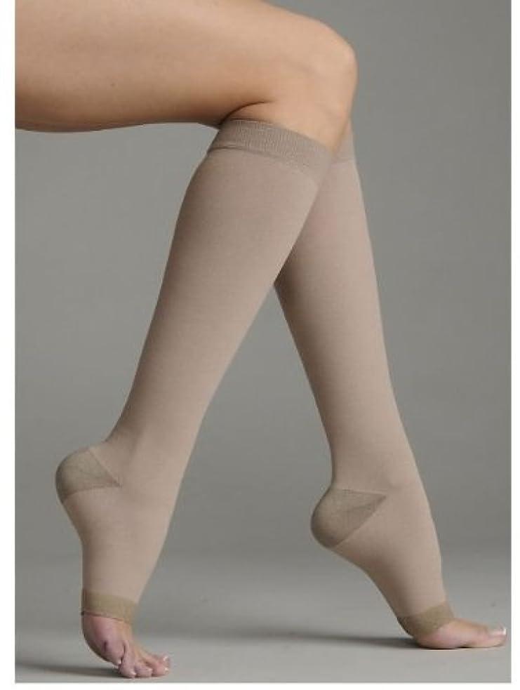 所有権手数料無視Juzo 2062AD IV IV Silver Soft Open Toe Knee High Regular 30-40 mmHg Compression Stockings by Juzo