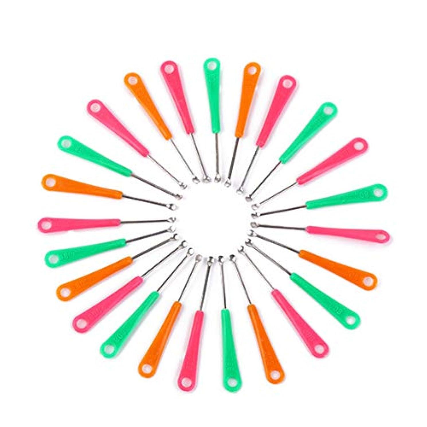 水平残基分岐する1st market プレミアム品質20ピースレッドグリーンイエロープラスチックグリップメタルイヤーピースイヤーキュレット