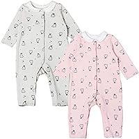Newborn Cute Baby Girl Romper Clothes Cotton Rabbit Print Pink Grey Gumpsuit