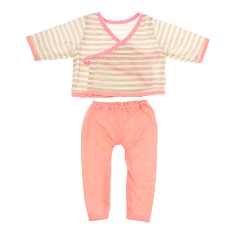 SONONIA 18インチ アメリカンガール人形用 パジャマ ストライ上着とピンクレギンス 可愛い アクセサリー 贈り物