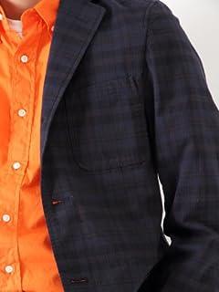Dark Madras 3-button Blazer 11-16-0212-803: Navy