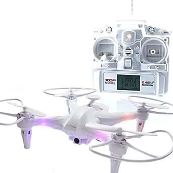 マルチコプター ミニクアッドコプター 6軸ジャイロ 6CHワンキーリターン ヘッドレスモード ワンボタン宙返り  空撮 ドローン 小型カメラ 純正バッテリー2個 オリジナルパッケージ (白)