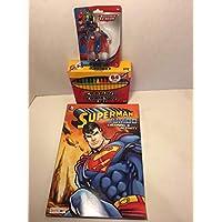 hln スーパーマン ジャンボ 塗り絵&アクティビティ バンドル カラーブック 64クレヨン アクションフィギュア付き