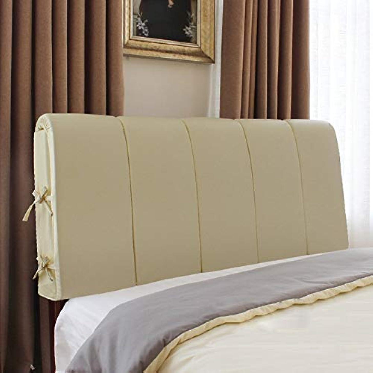 薬用複数叫び声31-luoshangqing ダブルベッドサイド大背もたれヘッドボードクッションベッドソフトバッグベッドカバー、垂直句、PU、6色、8サイズ (Color : D, サイズ : With headboard-180cm)