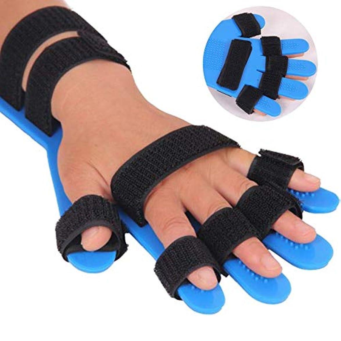 ドナウ川適合する先入観スプリント指指セパレーター、ばね指の添え木指、指インソールは、脳卒中/片麻痺/外傷性脳損傷のための指板、調節可能な手の指ボード装具スプリットフィンガートレーニングデバイスを、ポイント