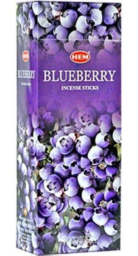 バルブオーバーコートを除くBlueberry - Box of Six 20 Stick Tubes, 120 Sticks Total - HEM Incense by HEM 6 Pack 20 Stick