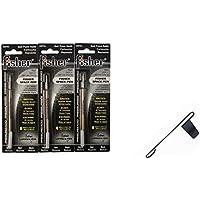Fisher SPR4 Refills for Bullet Fisher Space Pen Black 3 Pack Plus a free Black Clip! [並行輸入品]