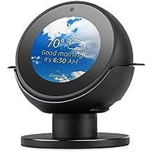 Echo Spot Stand Elecguru 360°Rotatable Aluminum Alloy Stand Mount with Anti-Slip Base Protector for Amazon Echo Spot (Black)
