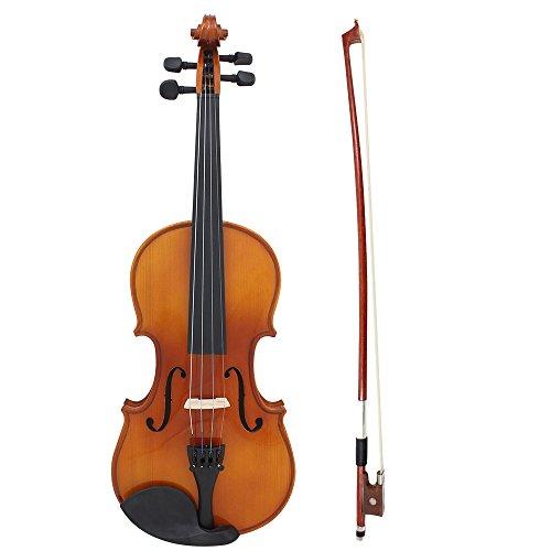 Andoer 4/4 フルサイズ セット アコースティック バイオリン ヴァイオリン 純木 カエデ 初心者/学生対応 気軽に演奏♪