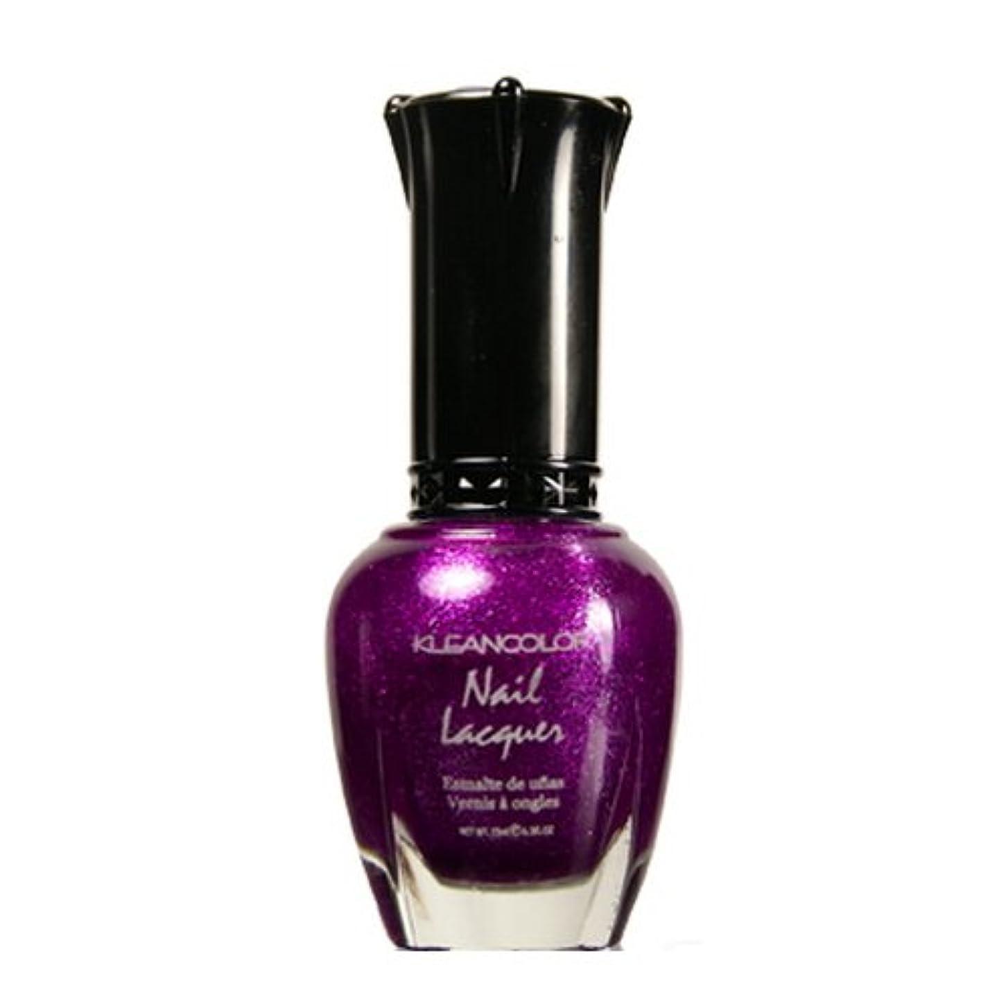 不十分な吸収するごみ(6 Pack) KLEANCOLOR Nail Lacquer 4 - Sparkling Grapes (並行輸入品)