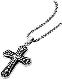 男性用ブレスレットPolice Men Stainless Steel Pendant Necklace - PJ25723PSS.01[並行輸入品]