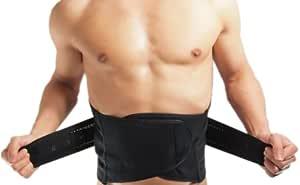 Fit House 補整 コルセット 下着 ウエスト シェイパー ポッコリ お腹をこっそり 補正 男性 用 腰痛 対策 メンズ (XXL, ブラック)