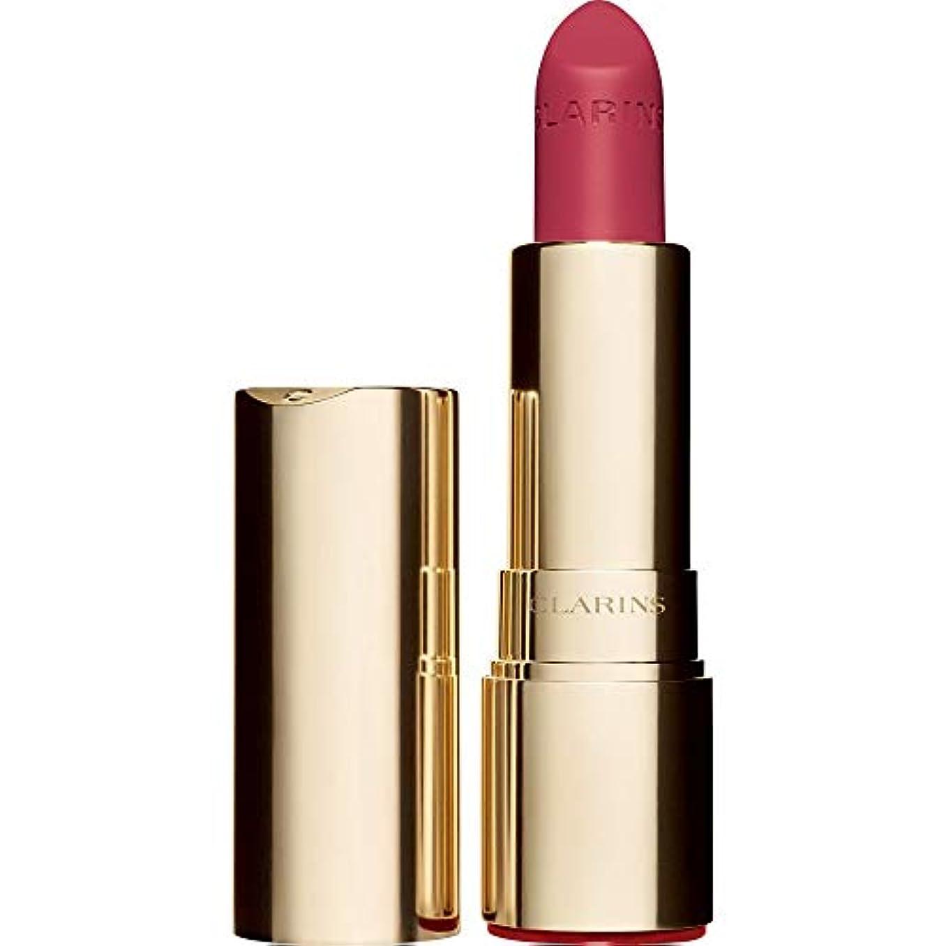 警告する香ばしいそばに[Clarins ] クラランスジョリルージュのベルベットの口紅3.5グラムの756V - グアバ - Clarins Joli Rouge Velvet Lipstick 3.5g 756V - Guava [並行輸入品]