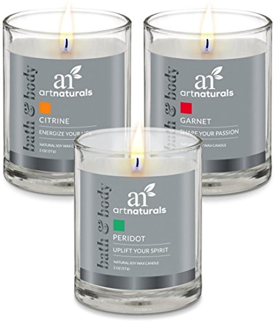 壊れたアイザック開いたArtNaturals Scented Candle Gift Set – 6 PieceアロマセラピーのセットFragrance大豆ワックス – Made in USA with Essential Oils – For...