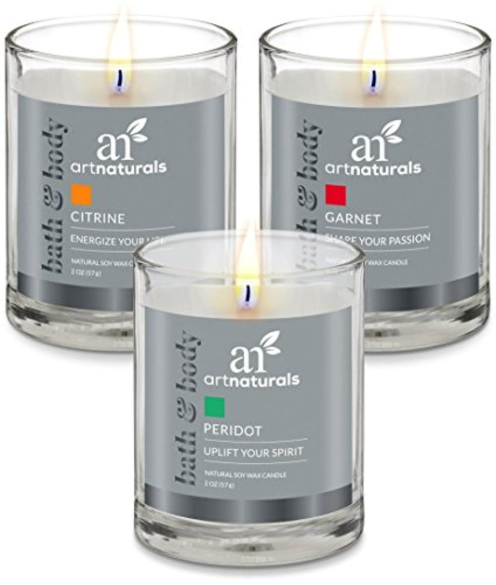 新鮮なより多いドラマArtNaturals Scented Candle Gift Set – 6 PieceアロマセラピーのセットFragrance大豆ワックス – Made in USA with Essential Oils – For...