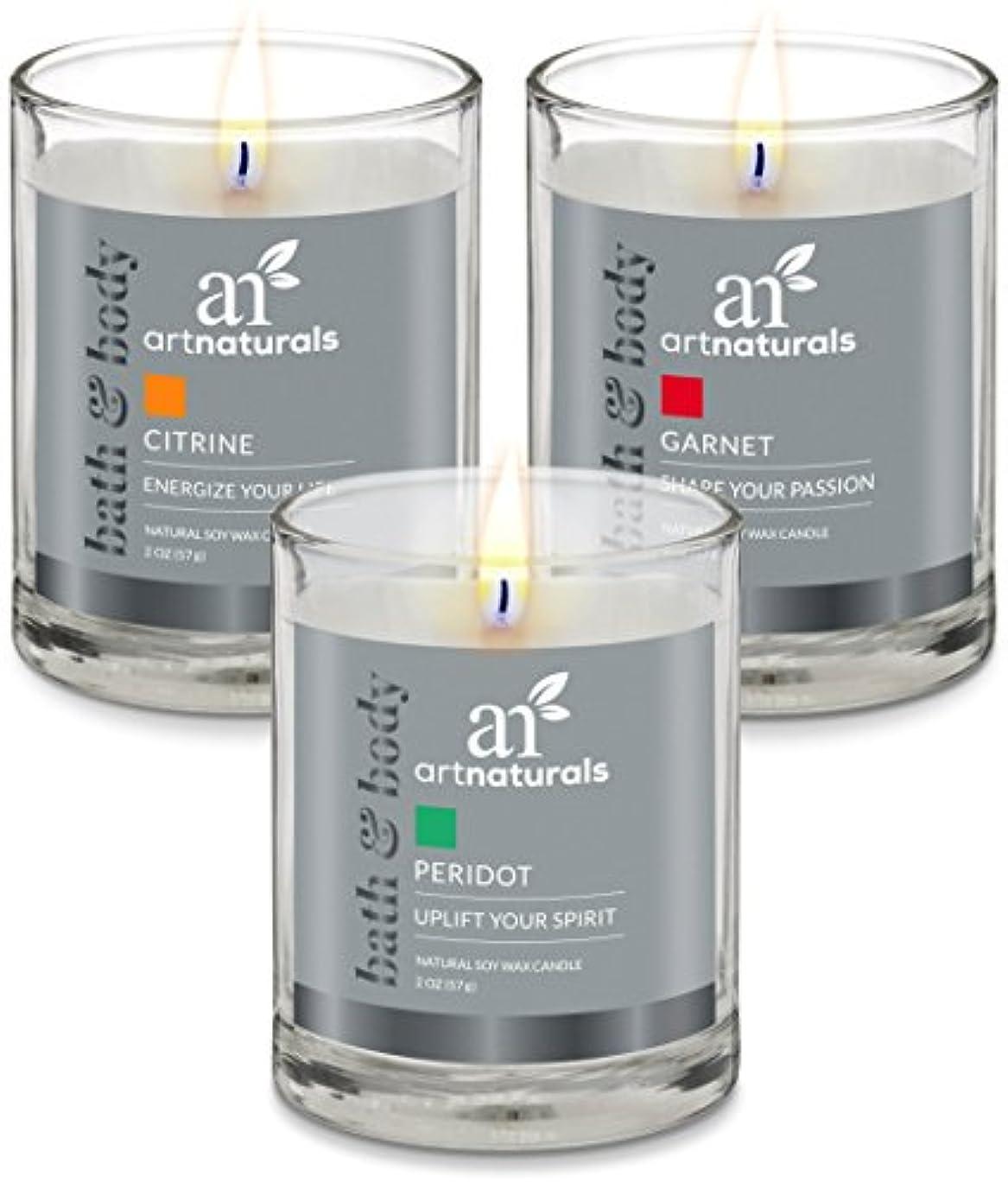 交渉する野望平らなArtNaturals Scented Candle Gift Set – 6 PieceアロマセラピーのセットFragrance大豆ワックス – Made in USA with Essential Oils – For...