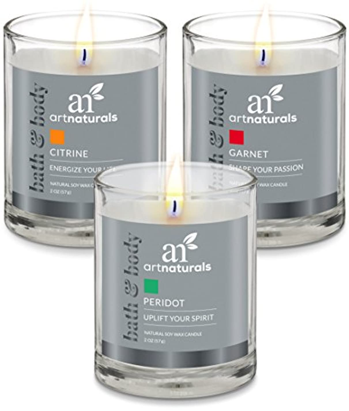 鳴り響くスナップ追い付くArtNaturals Scented Candle Gift Set – 6 PieceアロマセラピーのセットFragrance大豆ワックス – Made in USA with Essential Oils – For...