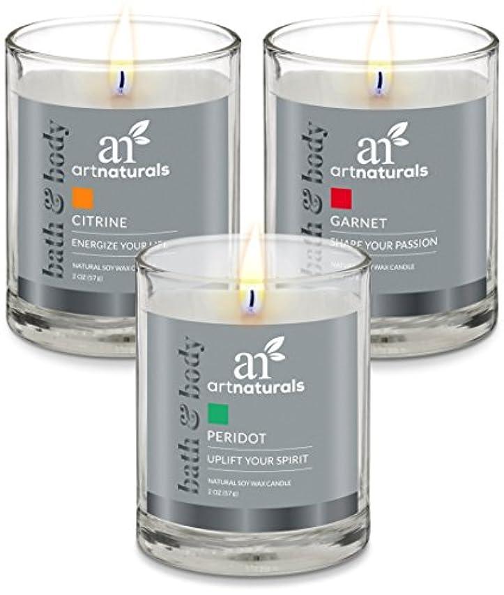 応援する飢えたアトラスArtNaturals Scented Candle Gift Set – 6 PieceアロマセラピーのセットFragrance大豆ワックス – Made in USA with Essential Oils – For...