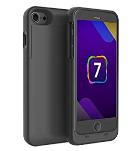 iPhone7 バッテリーケース 【KuGi】 超薄 モバイルバッテリー 内蔵ケース 急速充電 3200mAh 大容量 iPhone 7 / iphone6s / iphone6用 バッテリー内蔵ケース おしゃれ ブラック