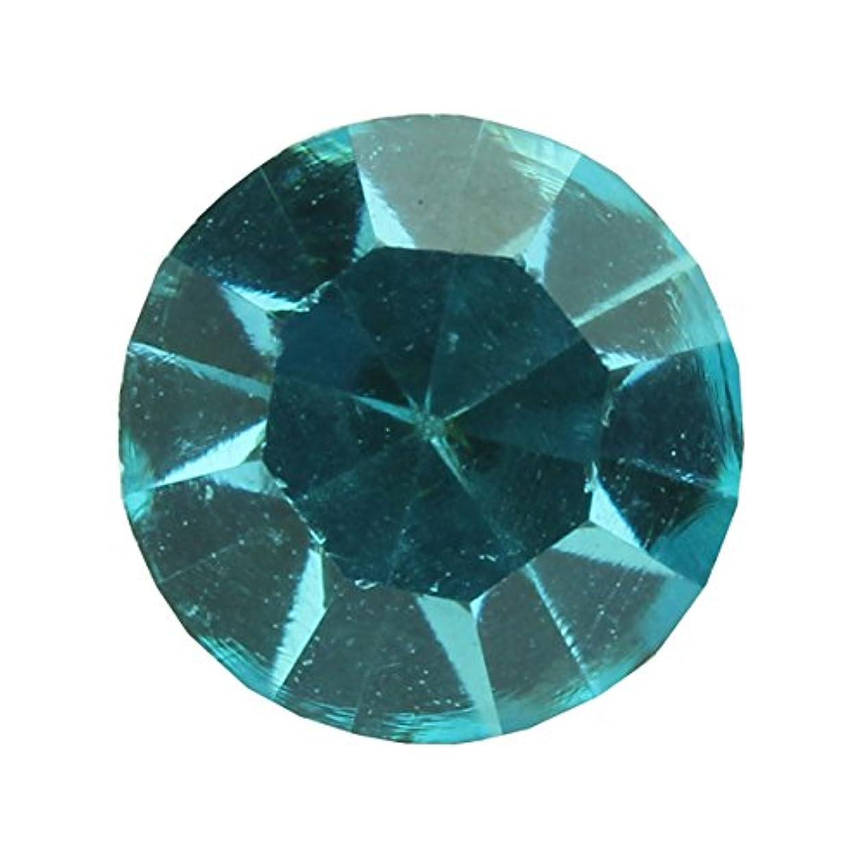 アッパー虐待乱雑なアクリルストーンVカット ss12(約3.0mm)(30個入り) アクアマリン