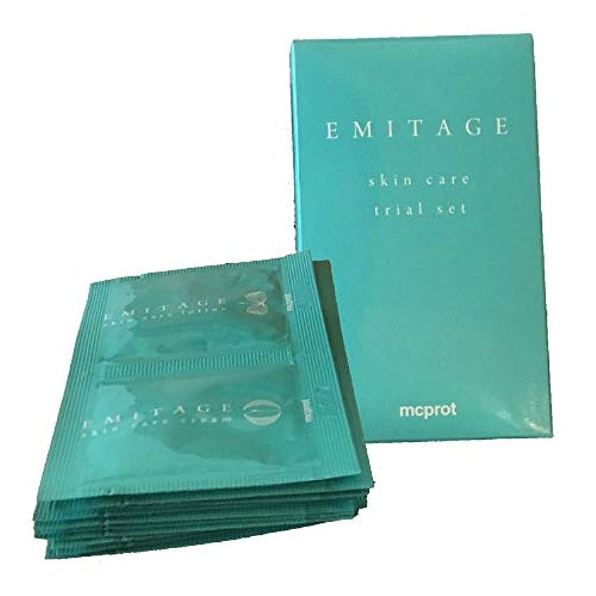 横にクリープ定義するEmitage(エミテイジ) 肌への思いやり ローション&クリーム トライアルセット
