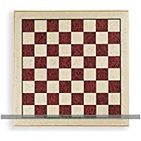 Luxury Inlaid Erable Chessboard by Dal Negro - 44cm, Red