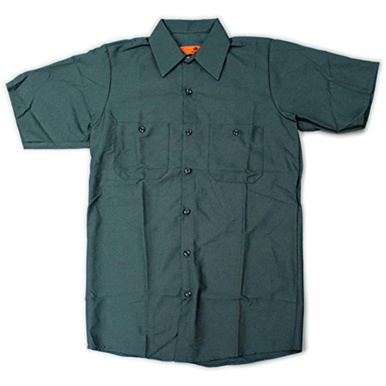 虐待重要なラグRED KAP(レッドキャップ)/SHORT SLEEVE SOLID WORK SHIRTS(半袖ソリッドワークシャツ) S SG:スプルースグリーン(SP Green)
