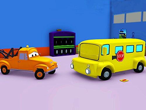 眠たいリリーを充電&スチームローラーのスティーブそして, レッカー車のトム, (子供向け)車&トラックの 建設アニメ