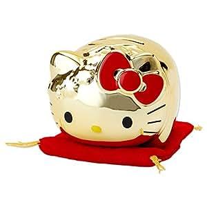 ハローキティ 金のブタ形貯金箱