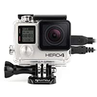 Side Open Protective Skeleton Housing Case with LCDタッチバックドアfor GoPro Hero 4、Hero 3、Hero 3+