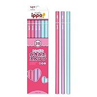 かきかたえんぴつ(六角・女の子)2B ポップ体風 ハート 彫刻 KB-KPW04-2B トンボ鉛筆 ippo! 名入れ無料 名入れ えんぴつ 鉛筆